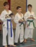 Kumite boys (10-11 years) medals